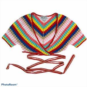 Wildfox Couture Gigi Crochet Top in Multi Small